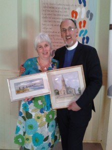 Gifts presented to Mr and Mrs Steele on leaving Annan Old.